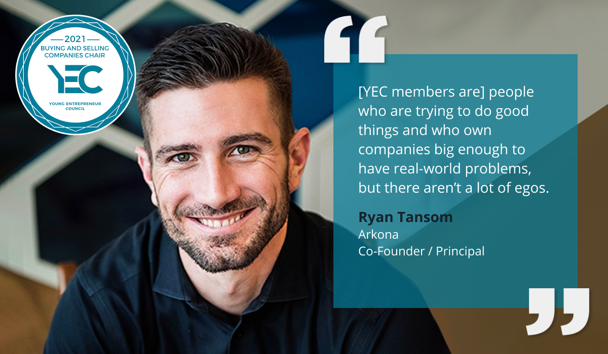 Ryan Tansom is YEC Buying and Selling Companies Chair