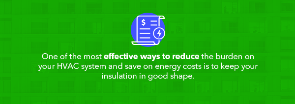 lower energy costs by replacing insulation