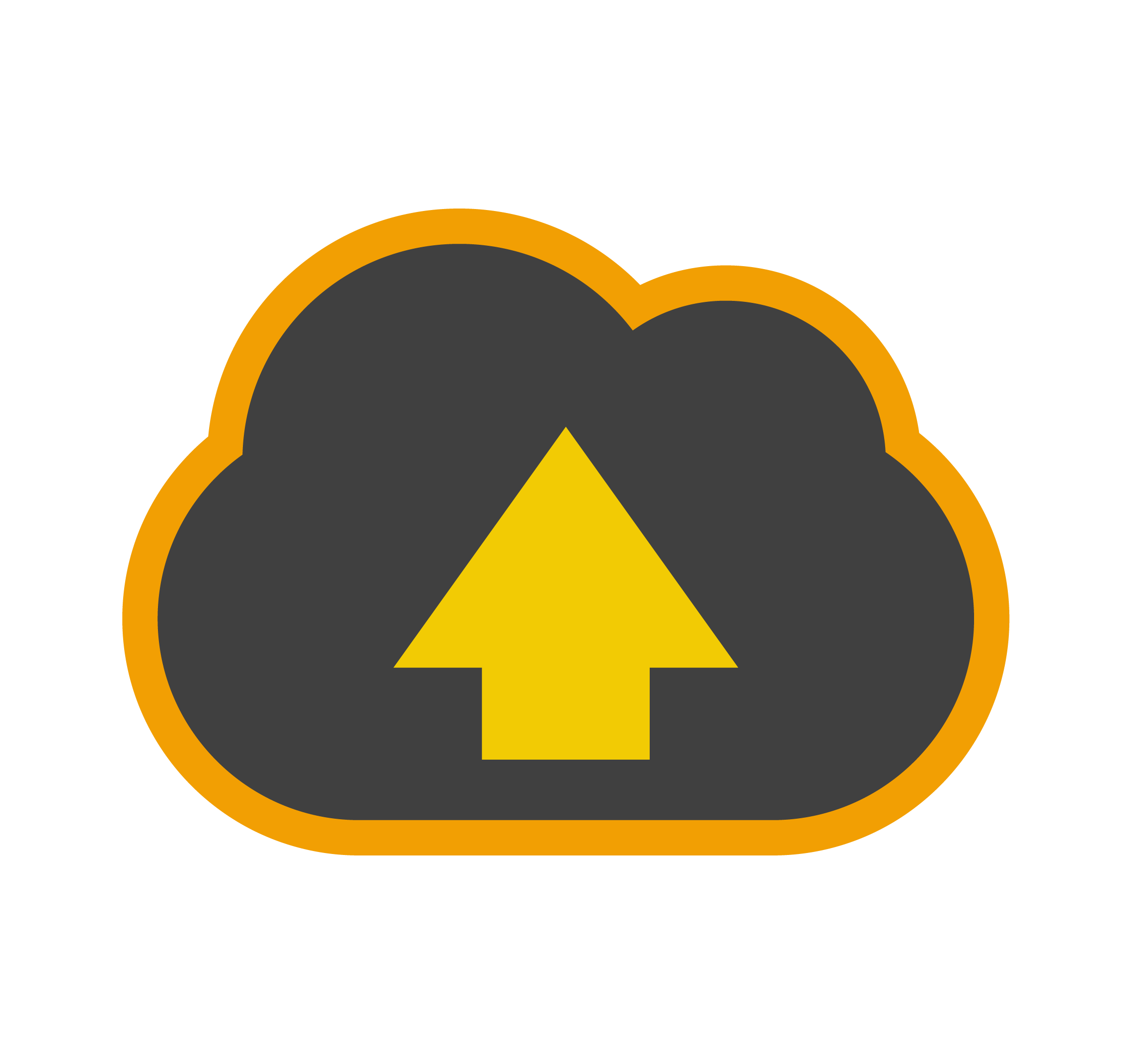 BrightPay Connect Icon of cloud with arrow pointing up
