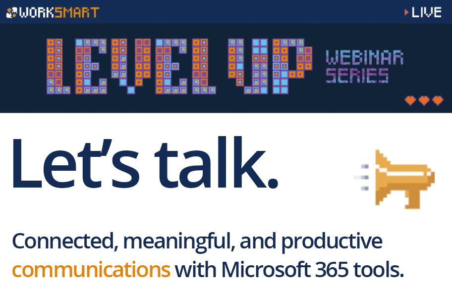 Sign up for the Let's Talk webinar