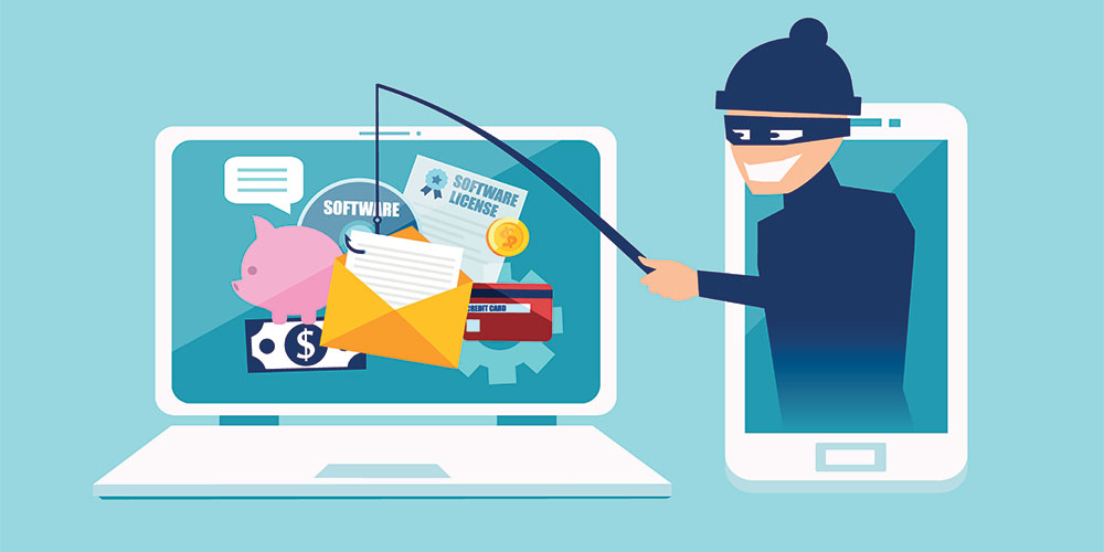 Ransomware is often caused by phishing