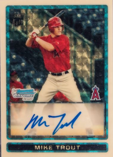 2009 Bowman Chrome Draft Prospects Mike Trout Superfractor