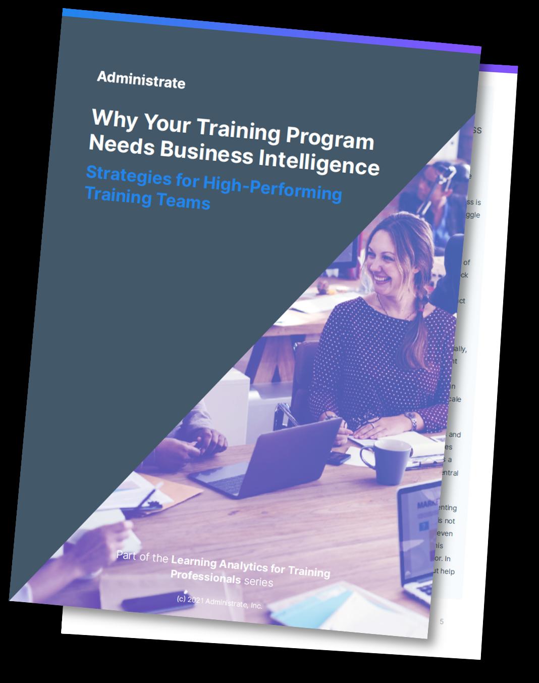 Why Your Training Program Needs Business Intelligence Mockup (Drop Shadow)
