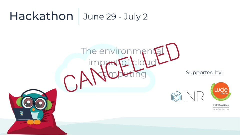 Canceling an event - experience sharing and lessons learned from a fail
