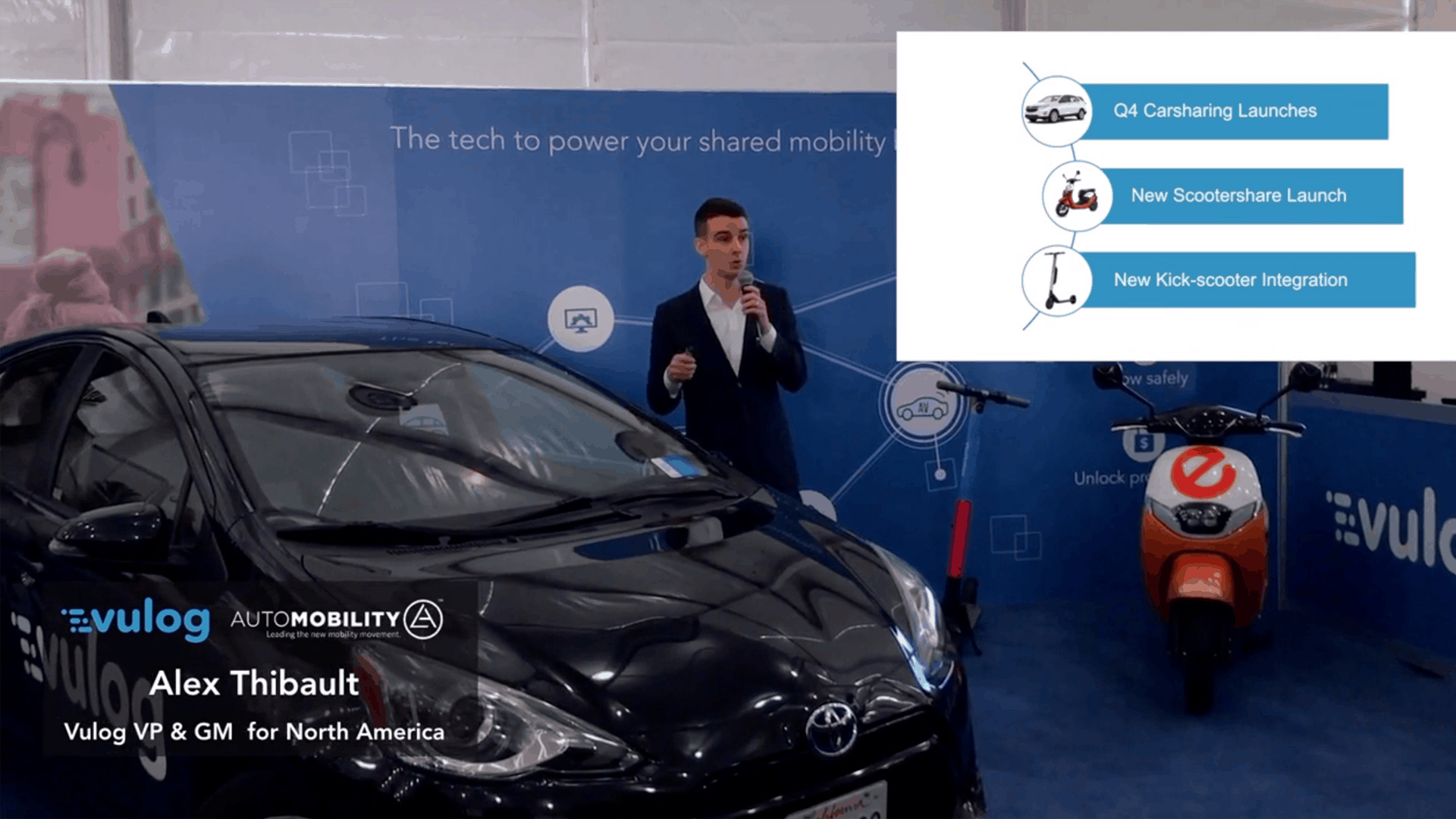 Alex Thibault Announces Vulog's Q4 Expansion Plans at Automobility LA 2018