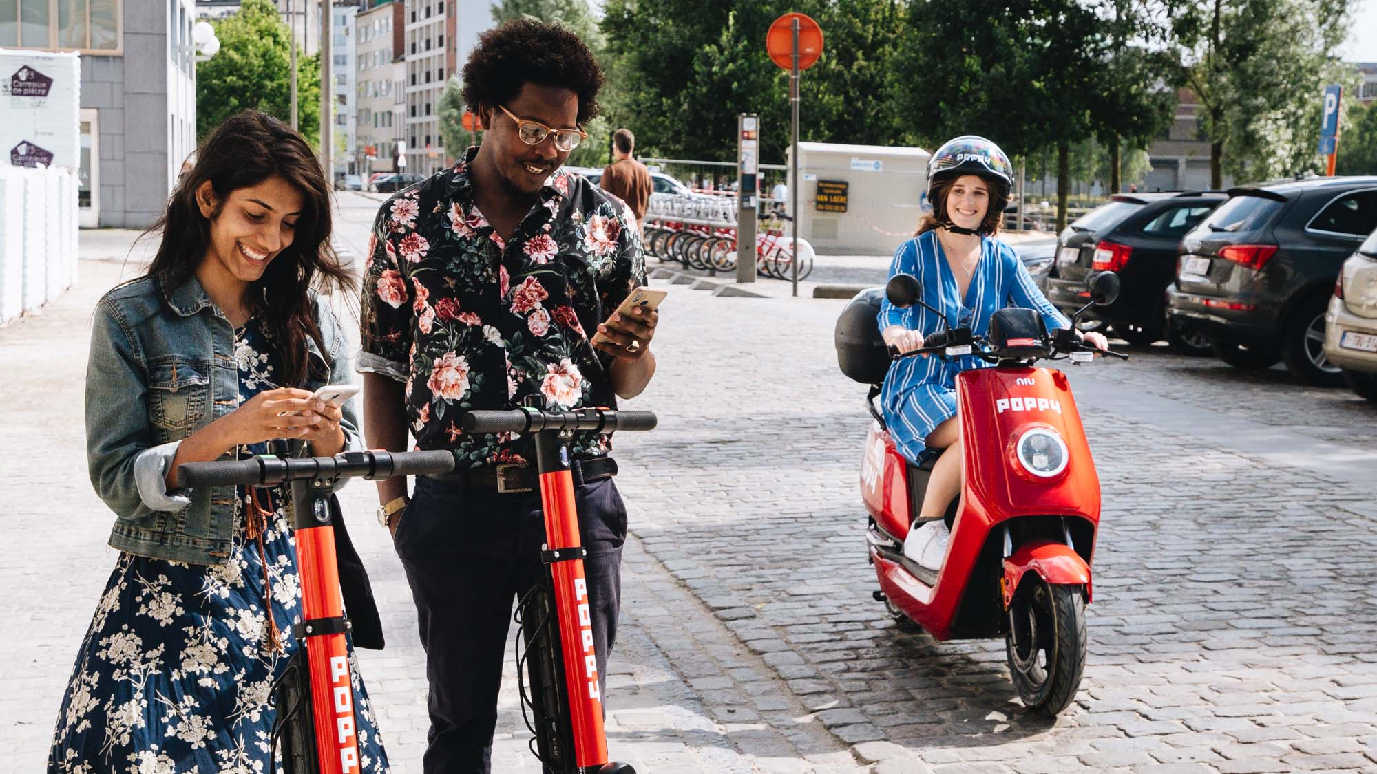 Poppy Mobility Launches Scootersharing Fleet