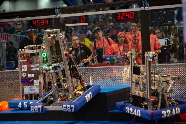 FIRST Robotics participants