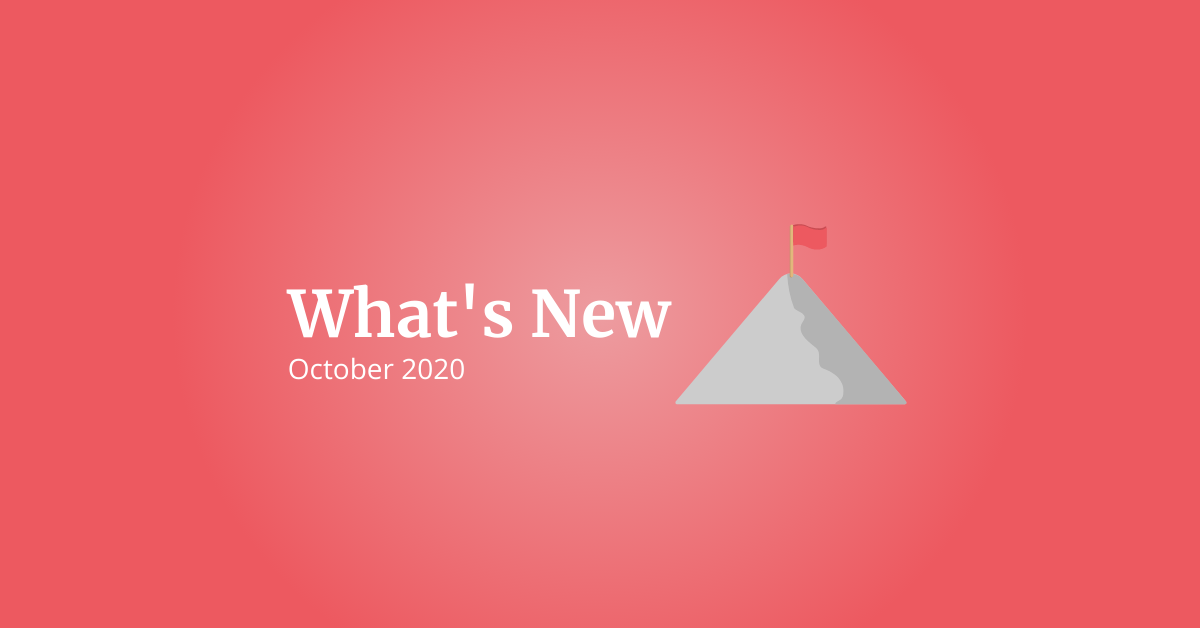 What's New: October 2020