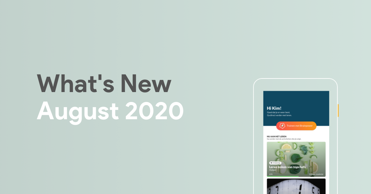 What's New: August 2020