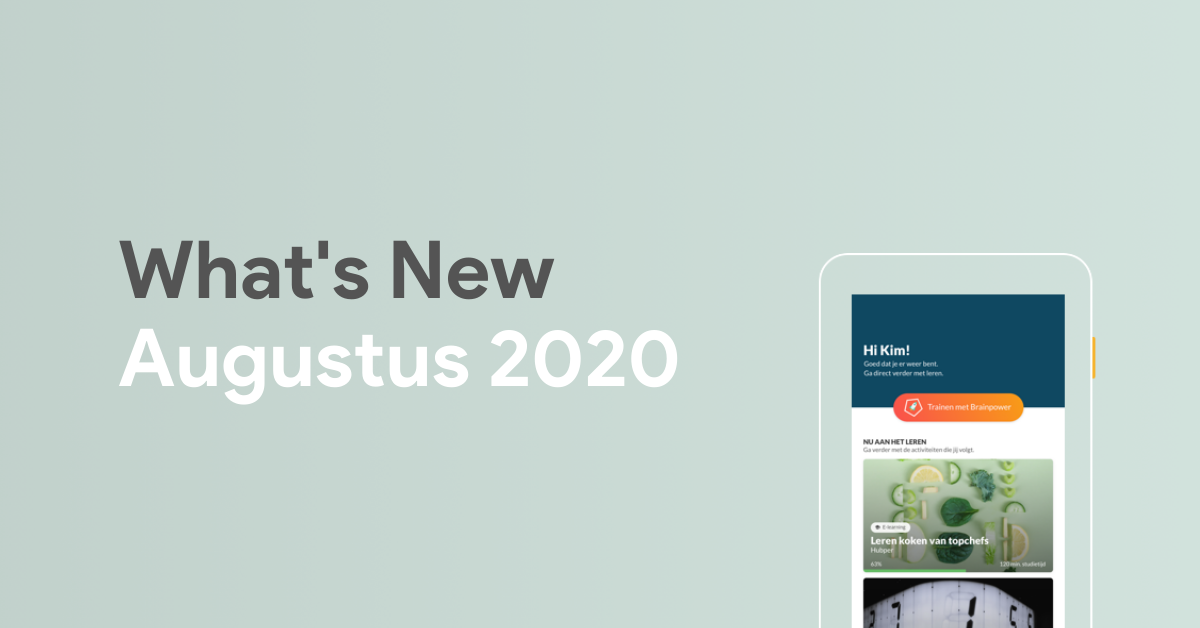 What's New: Augustus 2020