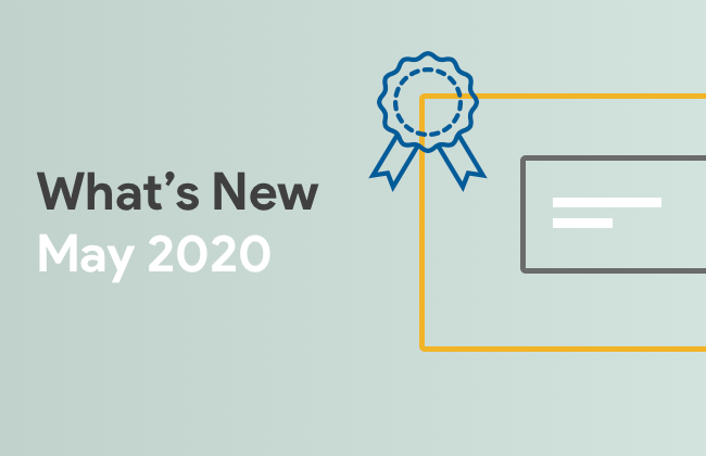 What's New: May 2020