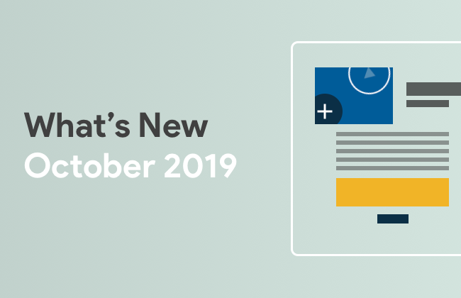 What's New: October 2019