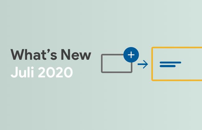 What's New: Juli 2020