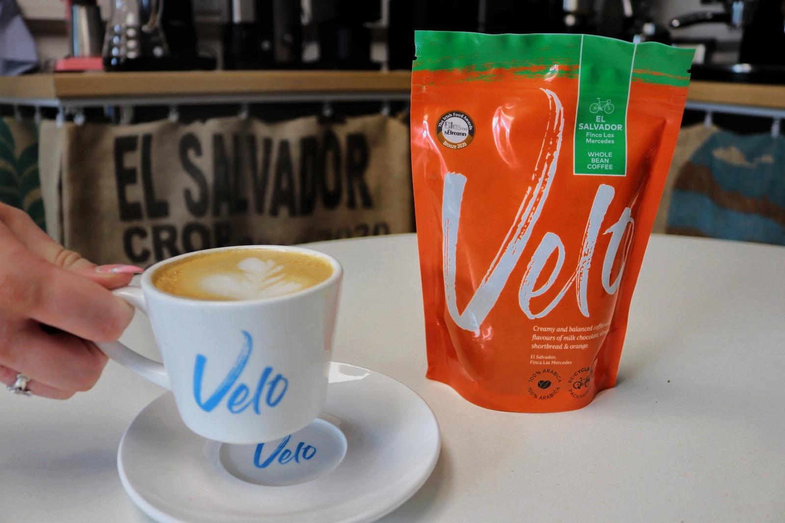 Velo Coffee Roasters El salvador Latte Art