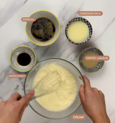 Mocha Ice Cake Ingredients