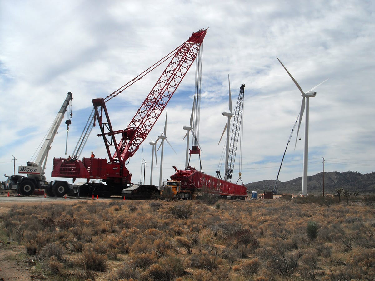 Job Photo 2 - Turbines and Crane